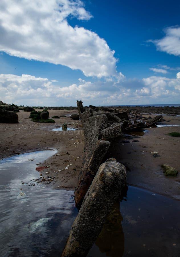 Relitto della nave di Hunstanton fotografia stock