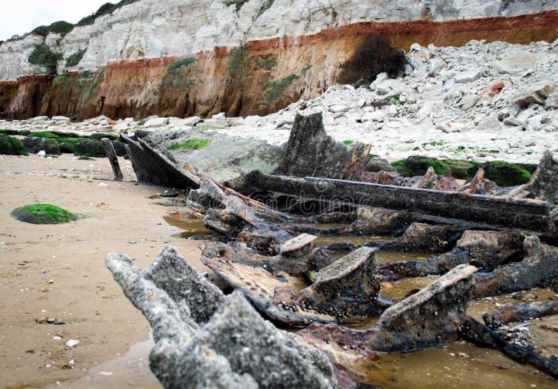 Relitto della nave di Hunstanton fotografie stock libere da diritti
