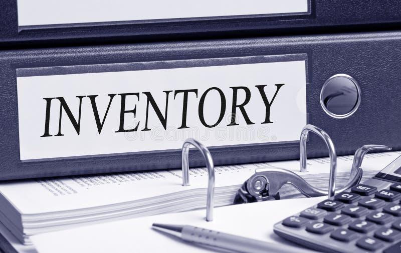 Reliure d'inventaire dans le bureau photographie stock