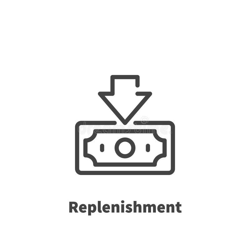 Relleno de la cuenta bancaria, icono del dinero libre illustration