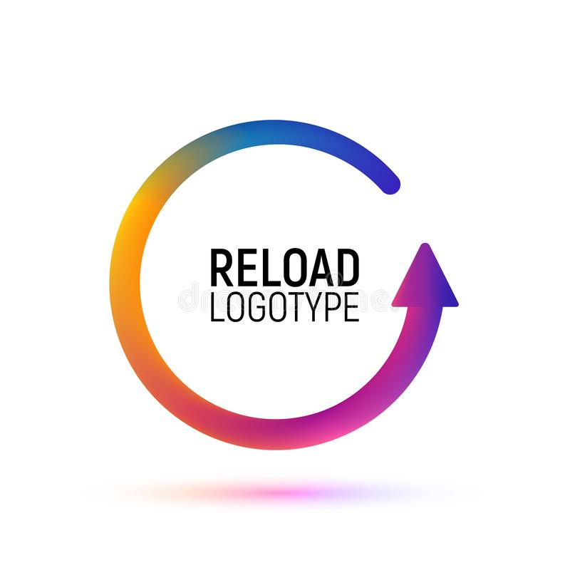 Reload Icon Vector Isolated On White Background, Logo