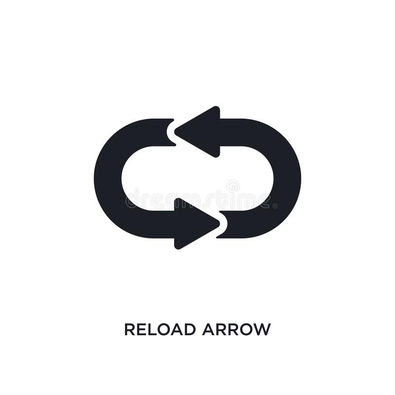 reload arrow isolated icon. simple element illustration from ultimate glyphicons concept icons. reload arrow editable logo sign stock illustration