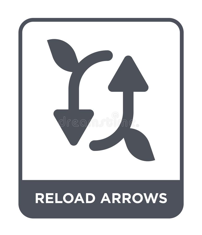 reload arrows icon in trendy design style. reload arrows icon isolated on white background. reload arrows vector icon simple and royalty free illustration