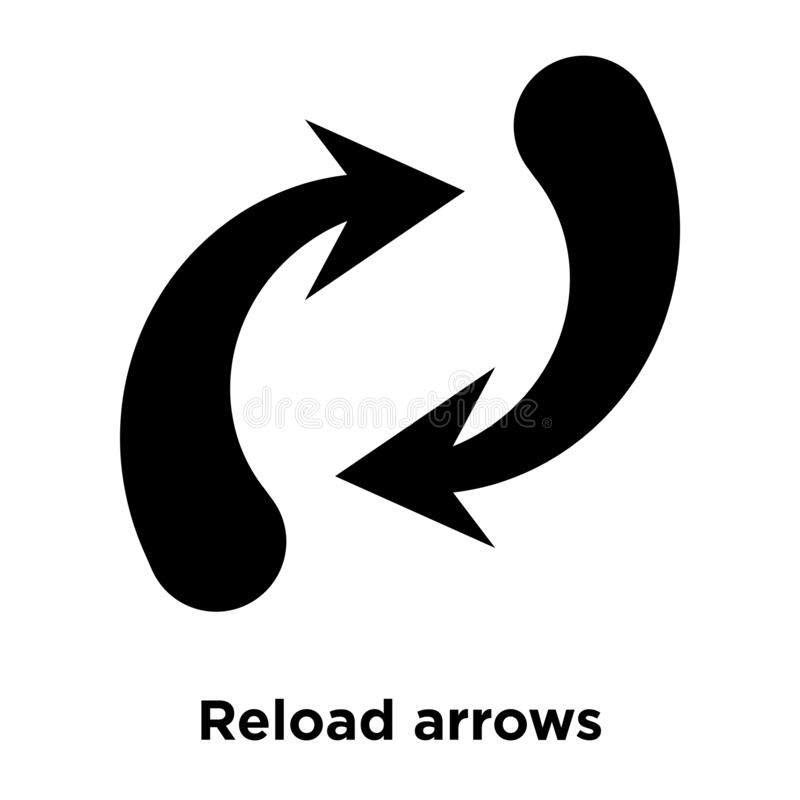 Reload arrows icon vector isolated on white background, logo con stock illustration