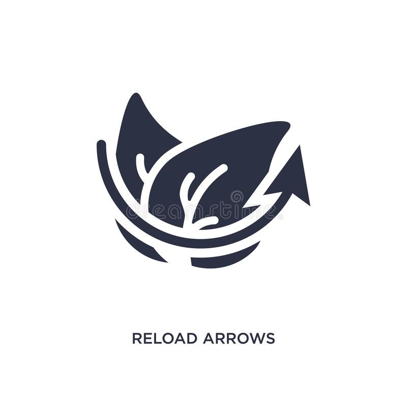 reload arrows icon on white background. Simple element illustration from ecology concept vector illustration