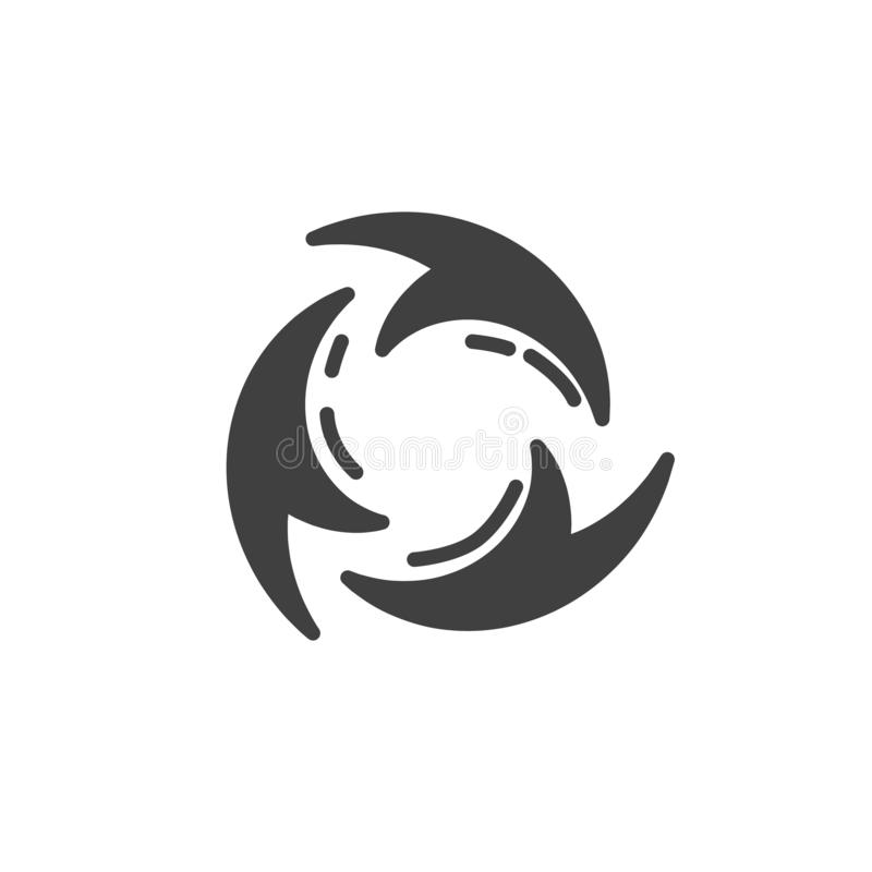 Reload arrows vector icon. Filled flat sign for mobile concept and web design. Three circular arrows glyph icon. Symbol, logo illustration. Vector graphics stock illustration