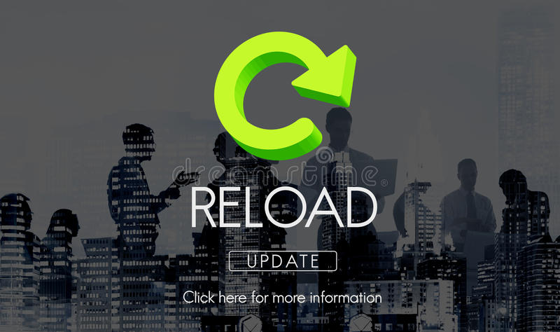 Reload Functionality Destruction Refresh Concept. Business Reload Functionality Destruction Refresh Concept royalty free stock image
