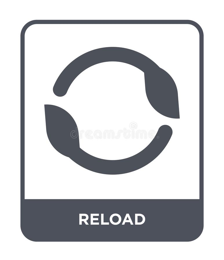 reload icon in trendy design style. reload icon isolated on white background. reload vector icon simple and modern flat symbol for stock illustration