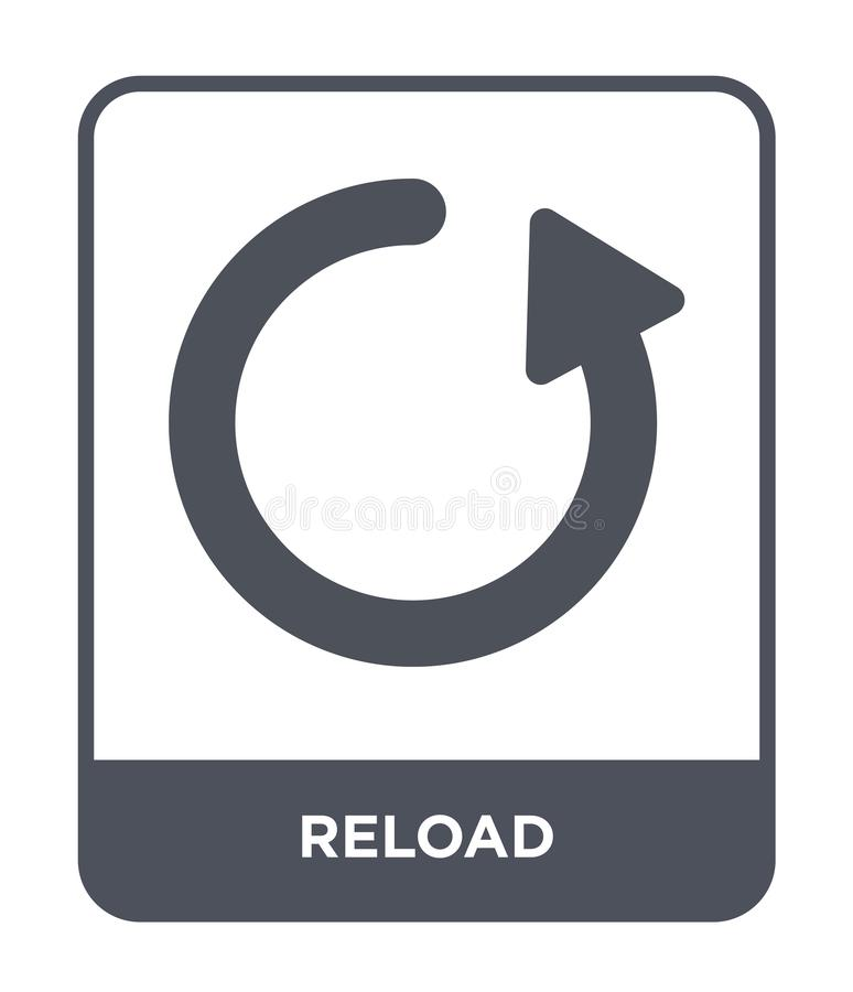 reload icon in trendy design style. reload icon isolated on white background. reload vector icon simple and modern flat symbol for vector illustration