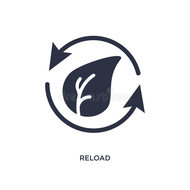 reload icon on white background. Simple element illustration from ecology concept royalty free illustration