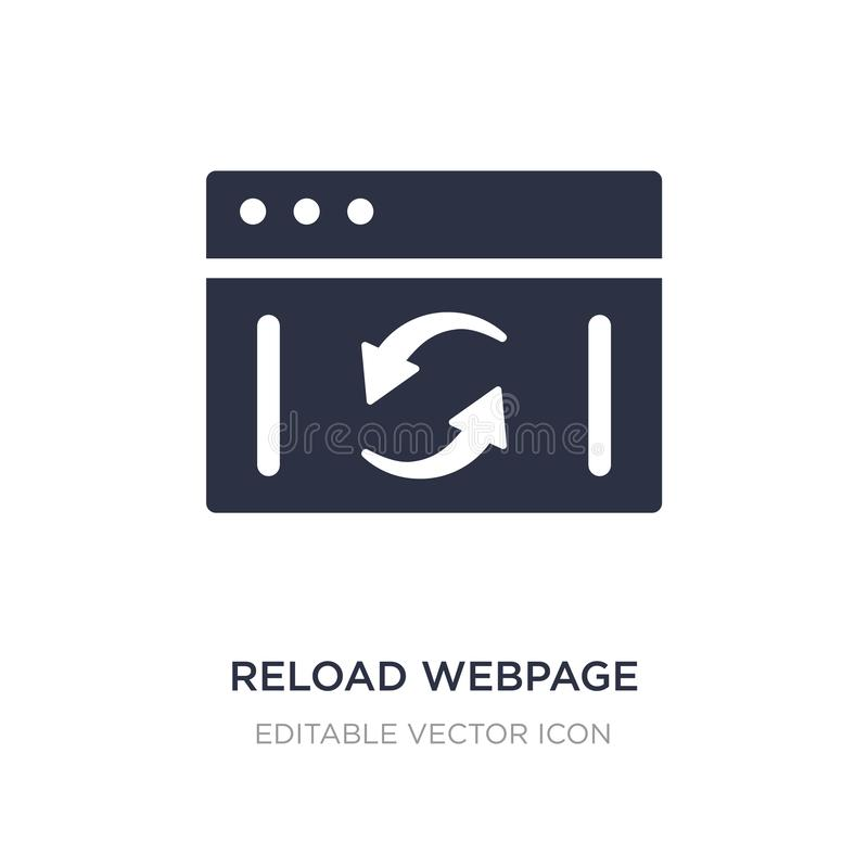 reload webpage icon on white background. Simple element illustration from UI concept royalty free illustration