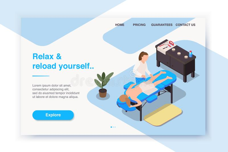 Reload Yourself Landing Page stock illustration