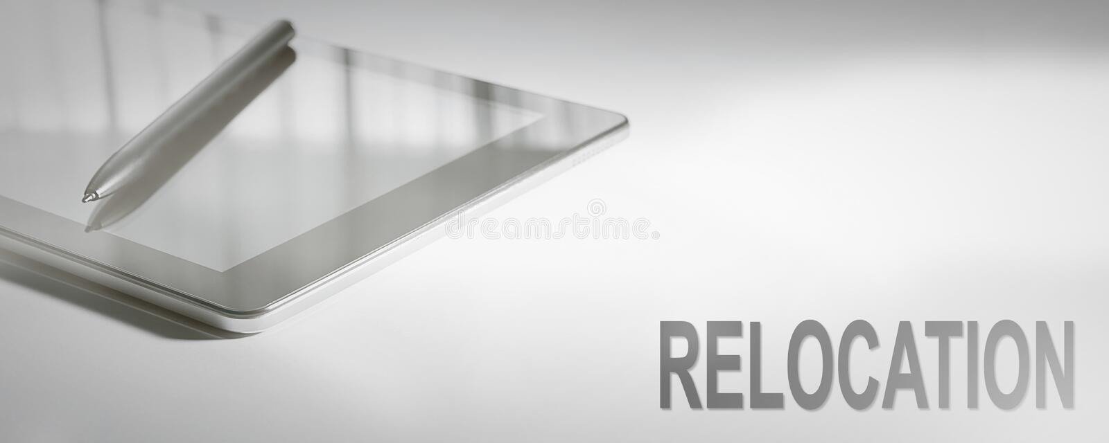RELOCATION Business Concept Digital Technology. stock images