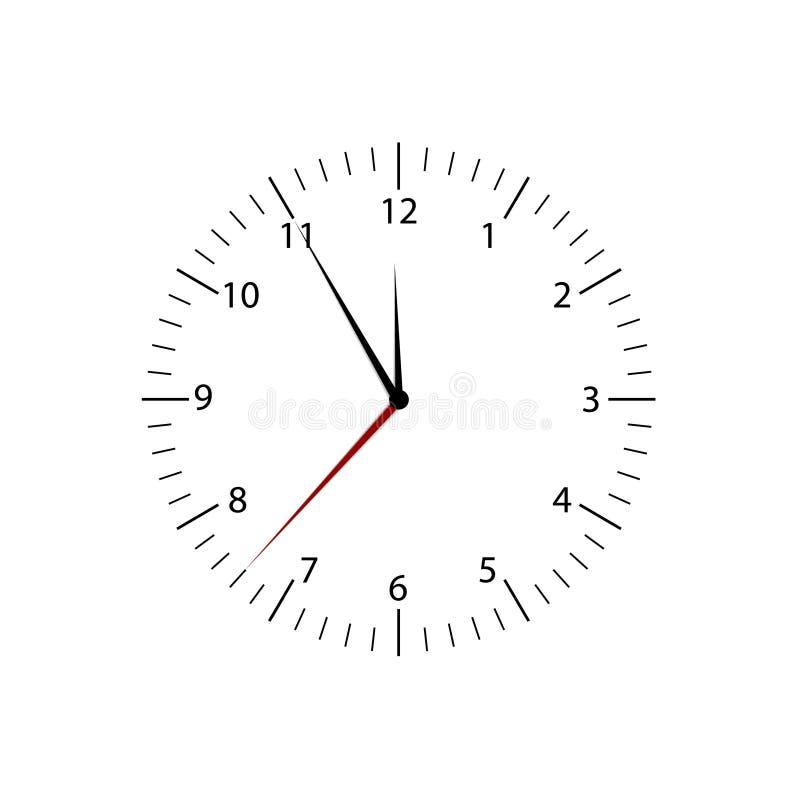 Download Reloj ilustración del vector. Ilustración de minuto, aislado - 41921015