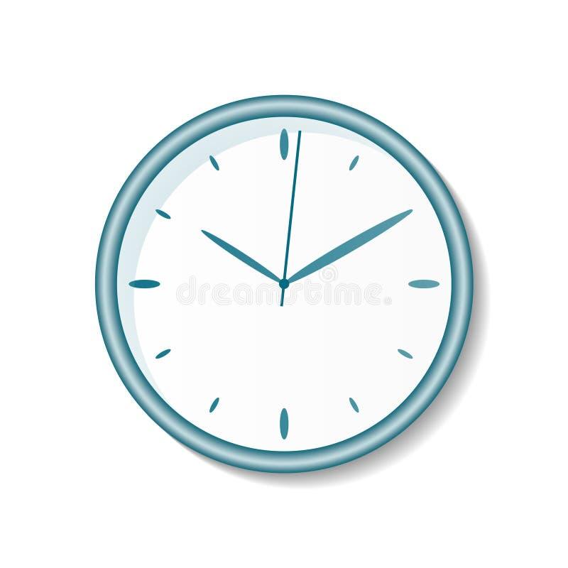 Reloj abstracto de la oficina en el fondo blanco stock de ilustración