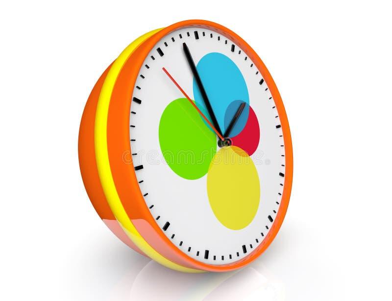 Reloj abstracto del color stock de ilustración
