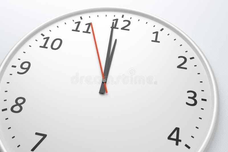 Reloj al mediodía libre illustration
