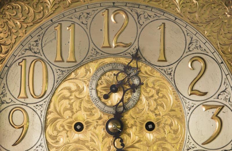Reloj antiguo adornado fotos de archivo libres de regalías