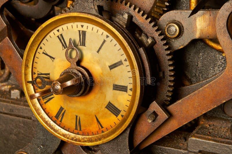 Reloj antiguo del grunge fotografía de archivo