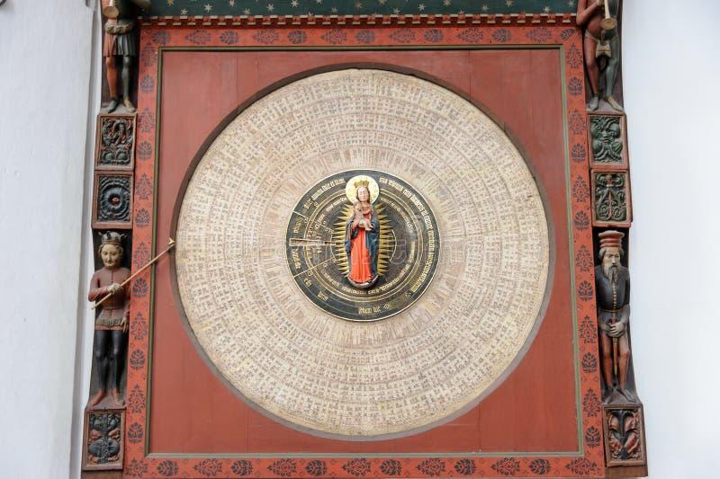 Reloj astronómico de Gdansk fotografía de archivo libre de regalías