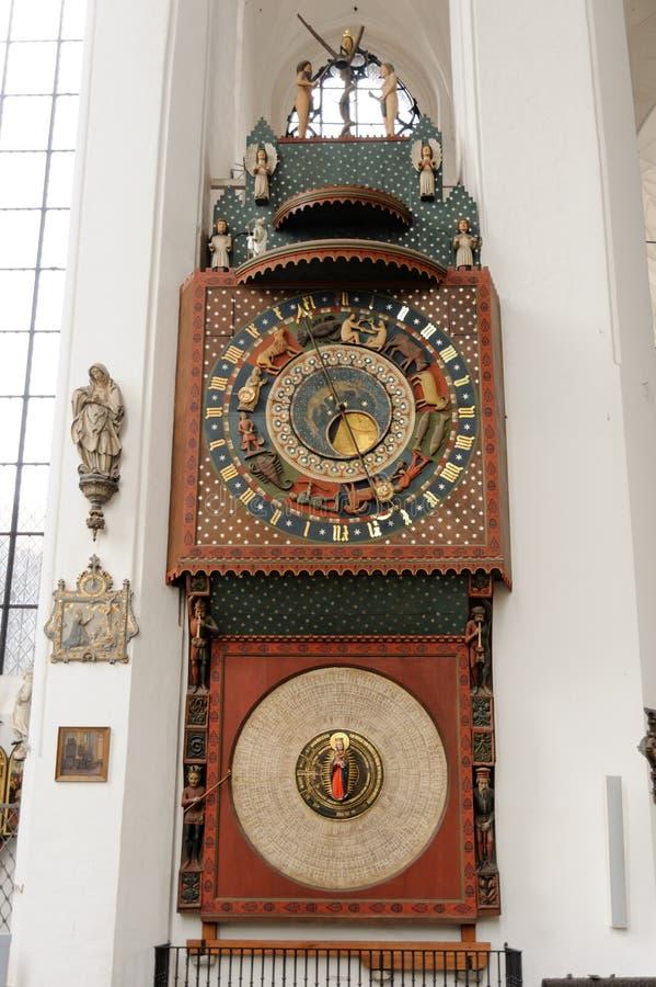 Reloj astronómico de Gdansk imágenes de archivo libres de regalías