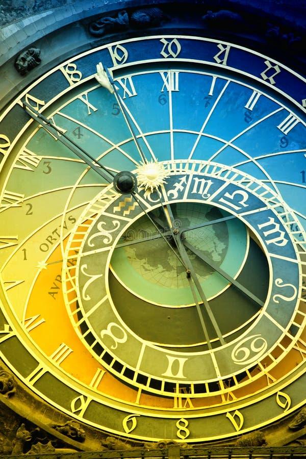 Reloj astronómico de Orloj en Praga en República Checa imagen de archivo libre de regalías