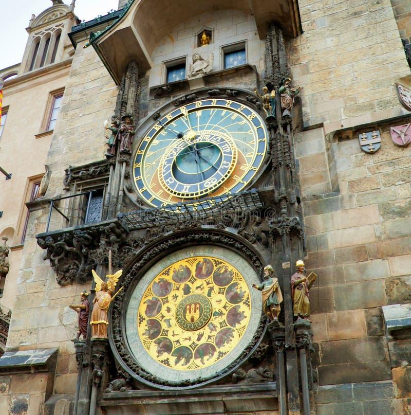 Reloj astronómico de Orloj en Praga en República Checa foto de archivo