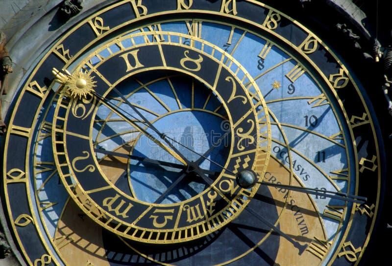 Reloj astronómico de Praga fotografía de archivo libre de regalías