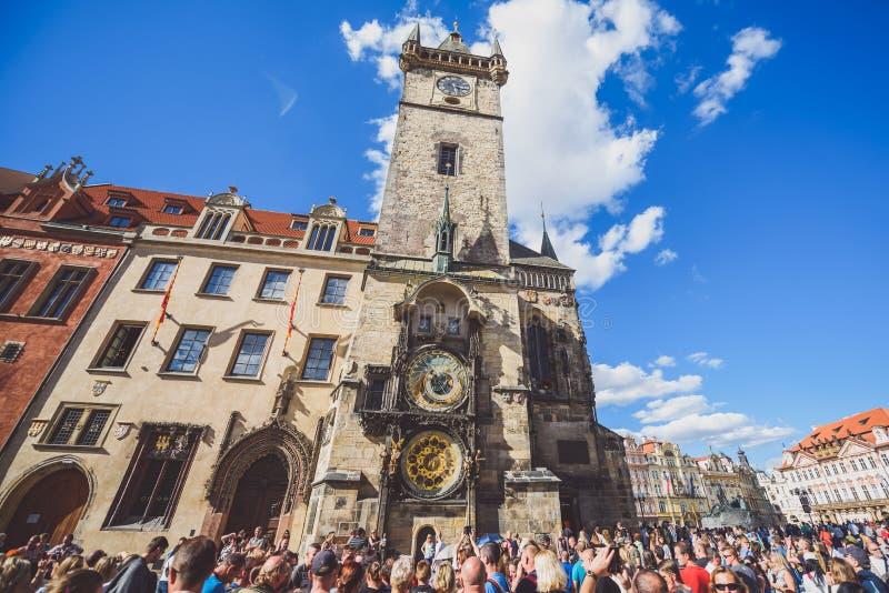 Reloj astronómico de Praga, República Checa imágenes de archivo libres de regalías