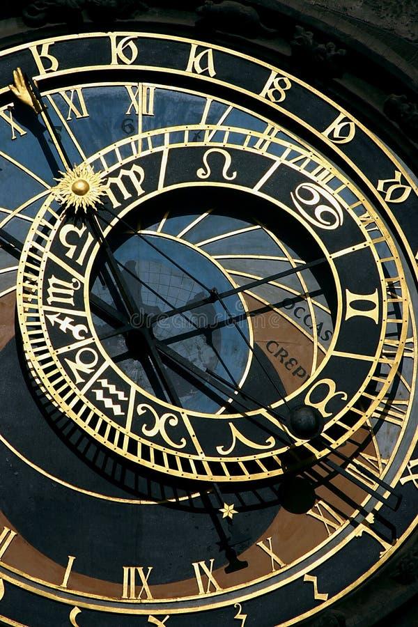 Reloj astronómico en Praga fotografía de archivo
