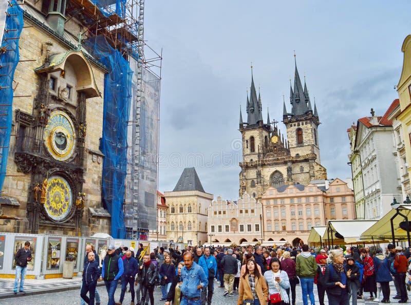 Reloj astronómico en Praga, República Checa imagen de archivo libre de regalías