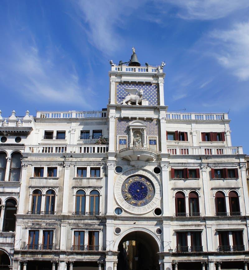 Reloj astronómico en San Marco Square, Venecia, Italia foto de archivo libre de regalías