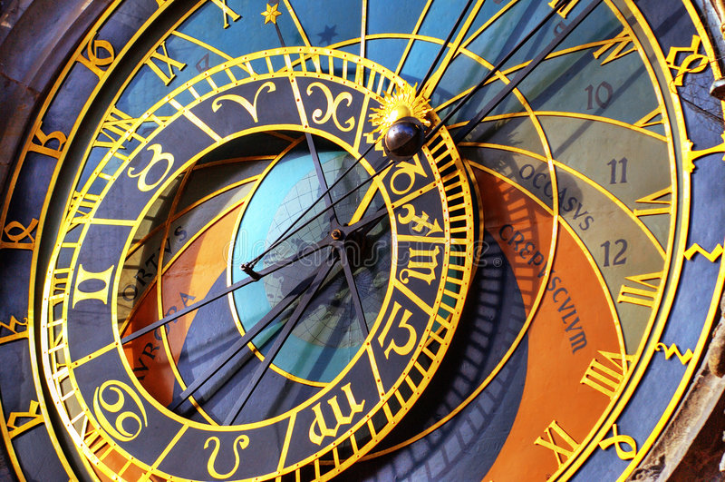 Reloj astronómico Praga imágenes de archivo libres de regalías