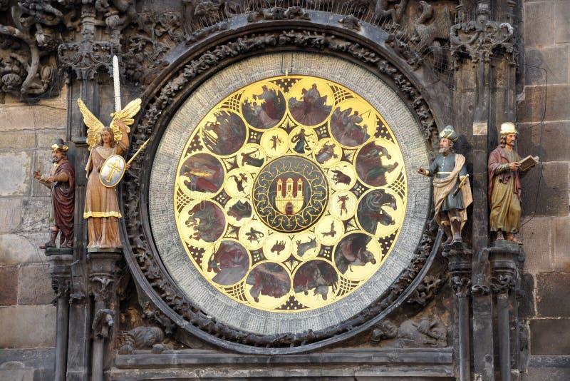 Reloj astronómico viejo, Praga, República Checa, Europa imagenes de archivo