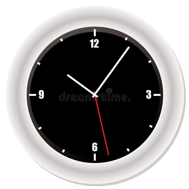 Reloj biselado moderno stock de ilustración