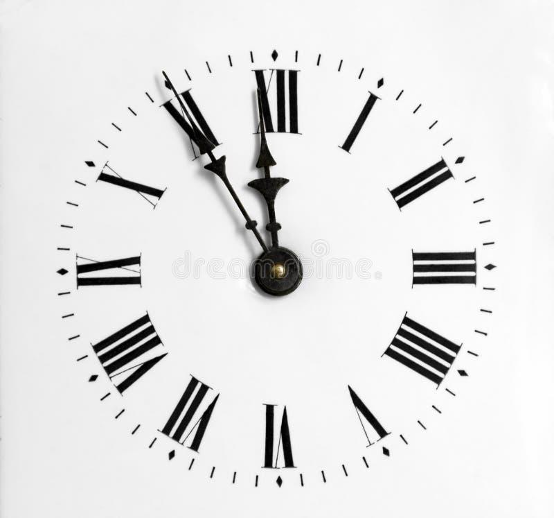 Reloj-cara del primer fotos de archivo