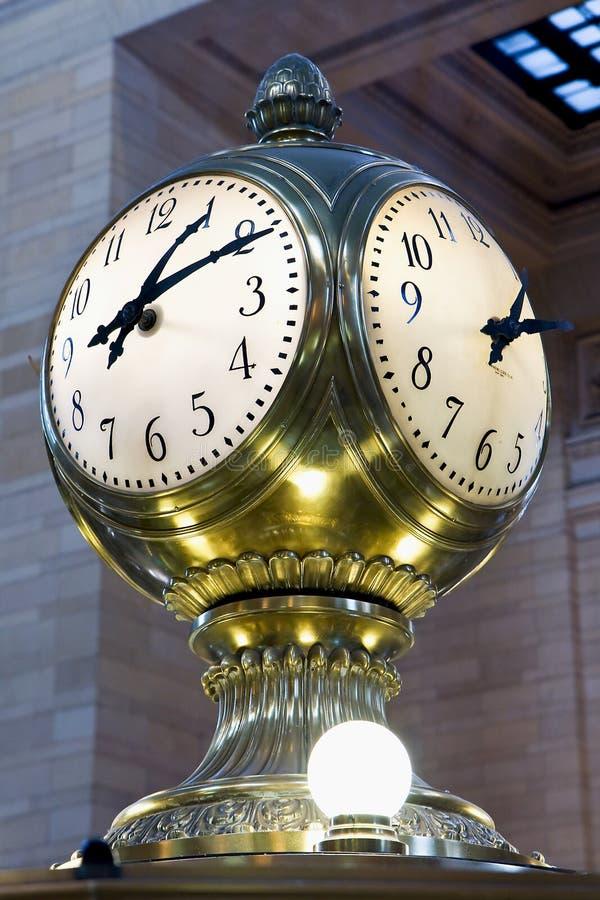 Reloj central magnífico imagen de archivo