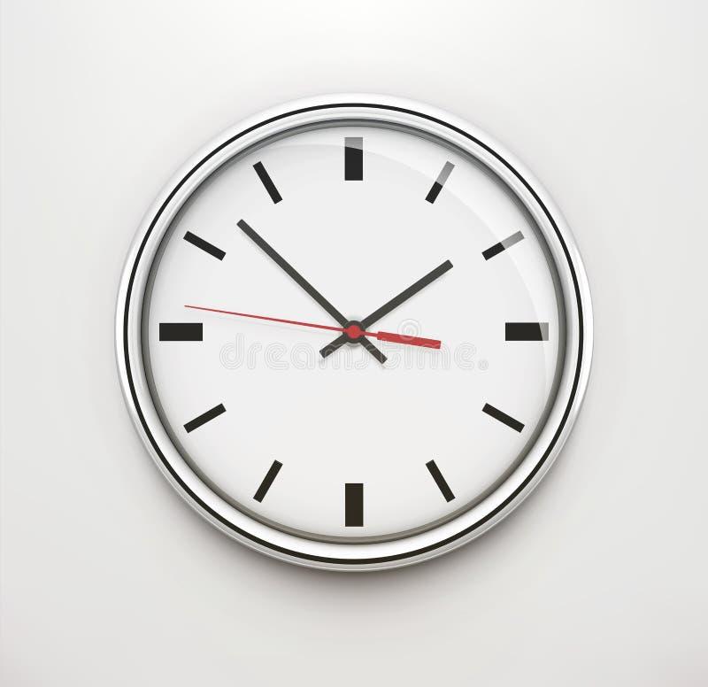 Reloj clásico de la oficina ilustración del vector