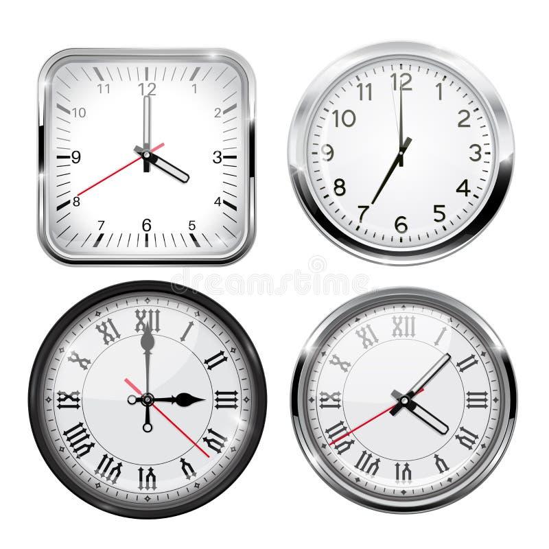 Reloj conjunto 3D ilustración del vector