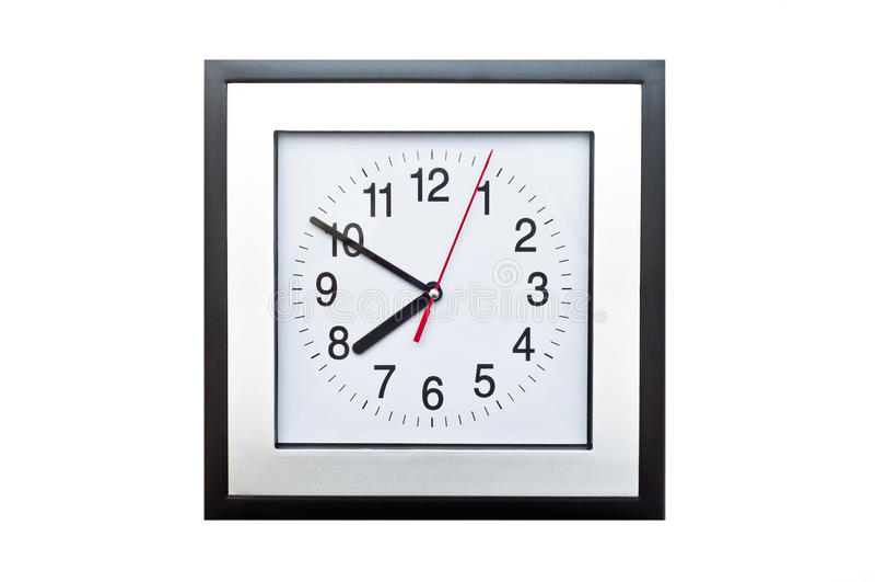 Reloj cuadrado imagen de archivo