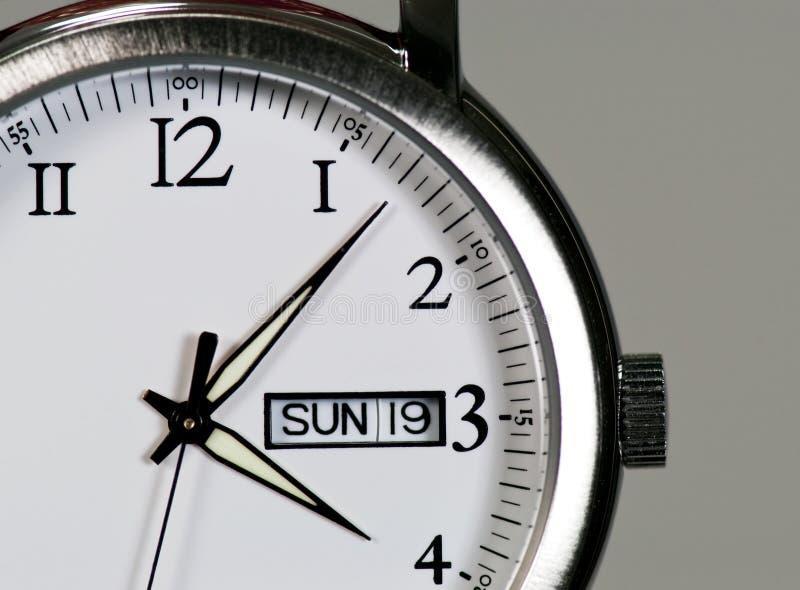 Reloj de acero fotos de archivo