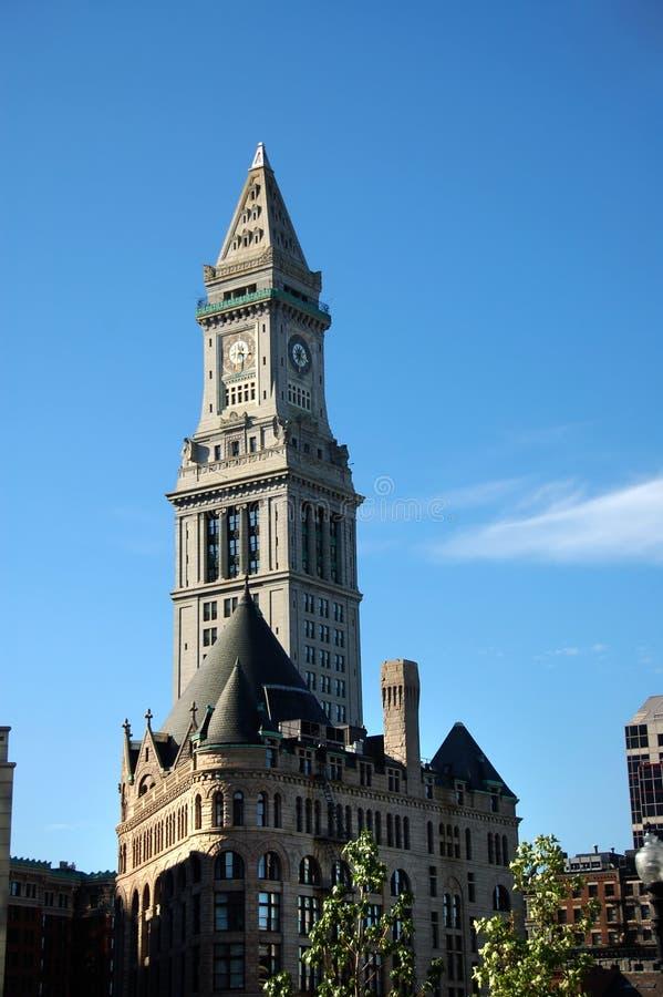 Reloj de aduanas de Boston foto de archivo