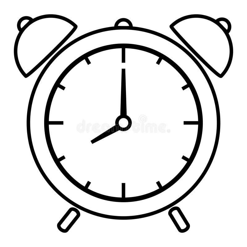 Reloj de alarma stock de ilustración