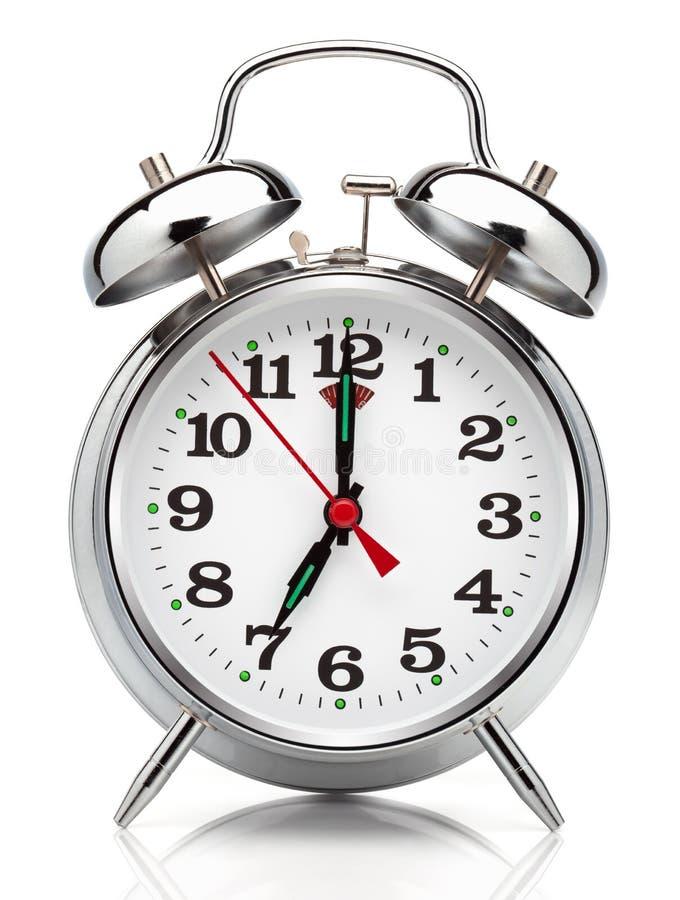 Reloj de alarma. foto de archivo