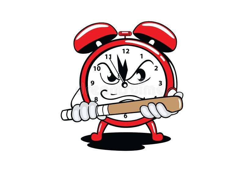 Reloj de alarma ilustración del vector