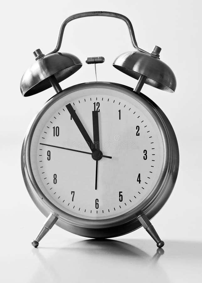Reloj de alarma 5 a 12 fotos de archivo libres de regalías