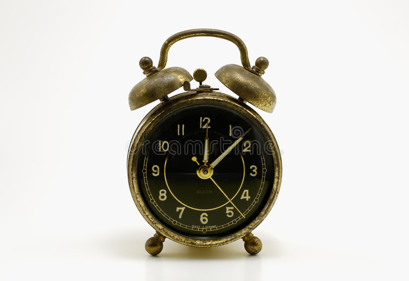 Reloj de alarma antiguo imagen de archivo libre de regalías
