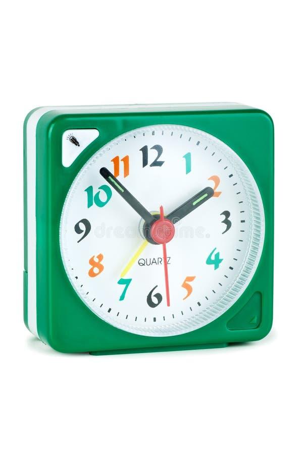 Reloj de alarma barato del cuarzo imagen de archivo