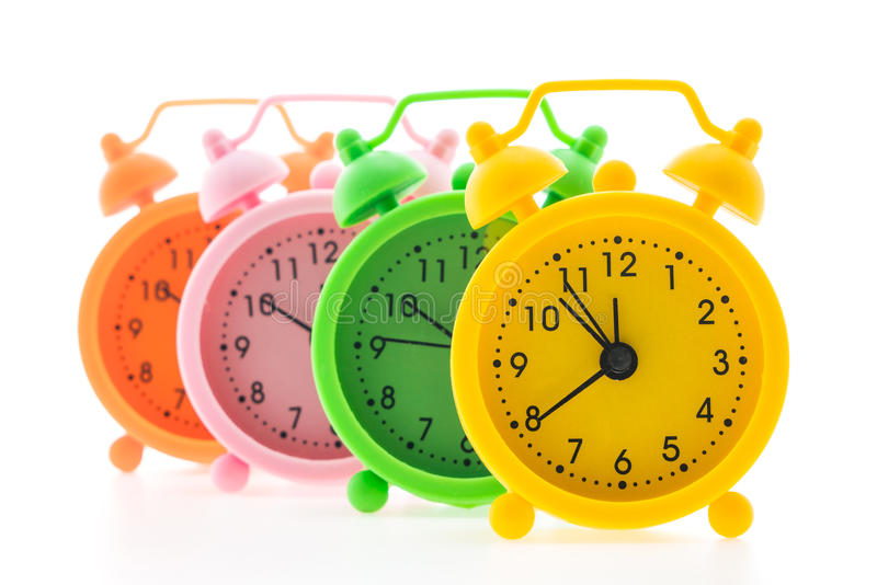 Download Reloj de alarma clásico foto de archivo. Imagen de recordatorio - 64212238