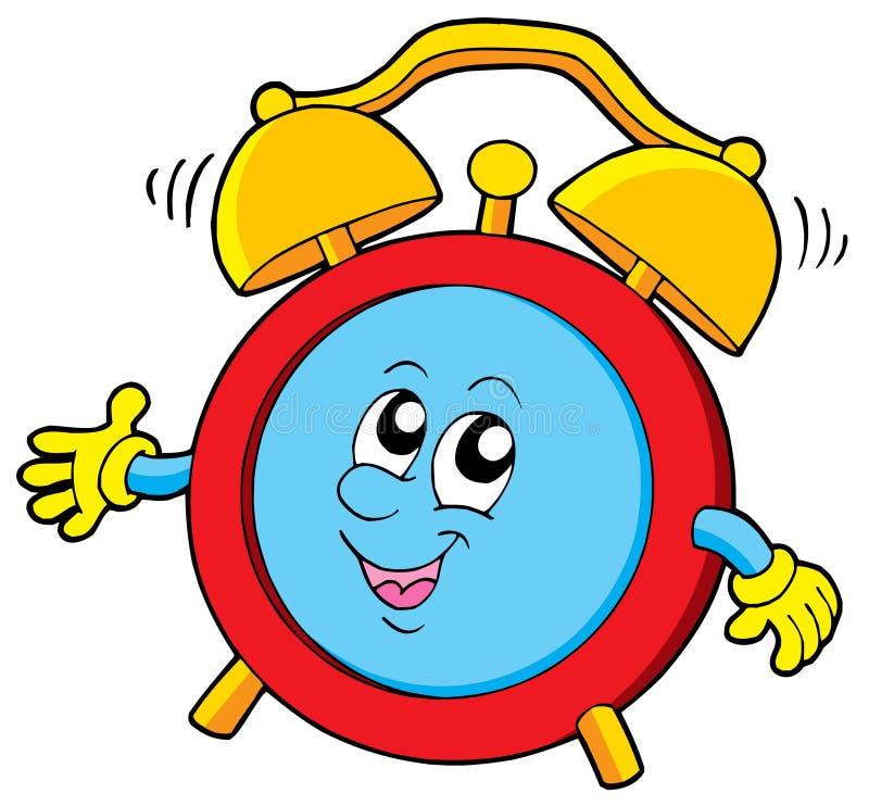 Reloj de alarma de la historieta ilustración del vector